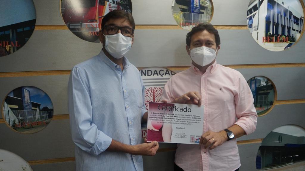 Presidente do Hemopa, Paulo Bezerra agradece aos servidores municipais a disponibilidade de doar sangue
